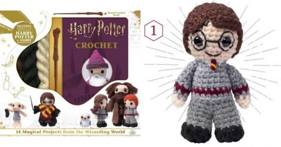 Un kit pour faire Harry Potter et Dobby en crochet