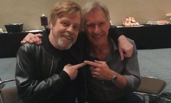 "Star Wars:  Mark Hamill imite à la perfection ce ""fainéant"" d'Harrison Ford !"