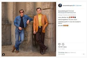 """Once Upon A Time In Hollywood"":  Leonardo DiCaprio dévoile la première photo avec Brad Pitt"