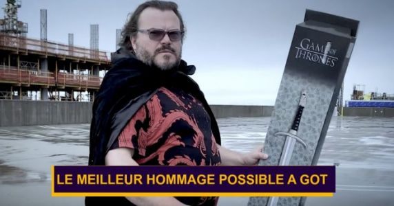 Le meilleur hommage à la fin de Game of Thrones, merci Jack Black