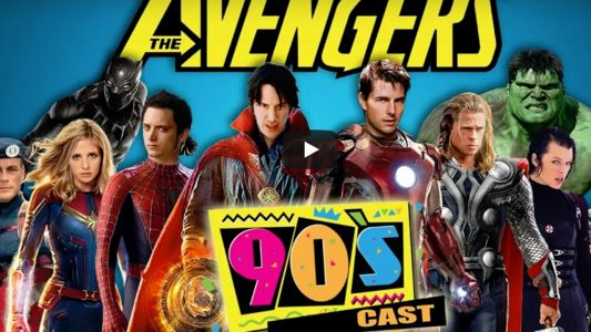 Avengers:  les super-héros en version 90 avec Tom Cruise, Brad Pitt, Brad Pitt, Buffy et. David Hasselhoff
