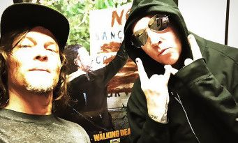 The Walking Dead:  Norman Reedus sème le chaos avec Marilyn Manson